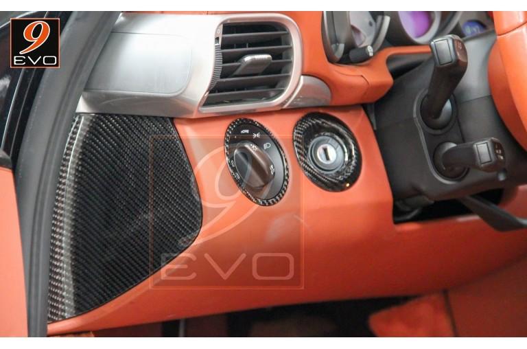 """Jeu de Face Latérale Plate en Carbone """"tableau de bord"""" pour Porsche 997"""