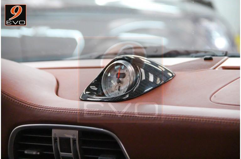 """Pack Chrono """"tableau de bord"""" en Carbone pour Porsche 997  / Cayman-Boxster 987"""