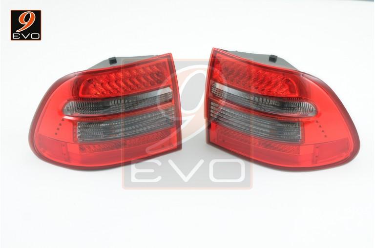 Feux LED pour Porsche CAYENNE 955 Red & Crystal